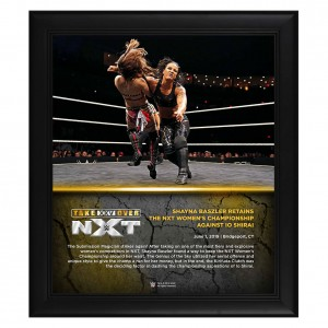 Shayna Baszler NXT TakeOver XXV 15 x 17 Framed Plaque