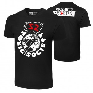 "Sami Zayn ""Toxic Society"" Authentic T-Shirt"