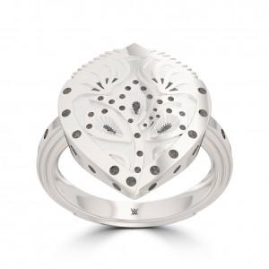 Charlotte Flair Bixler Ring in Sterling Silver