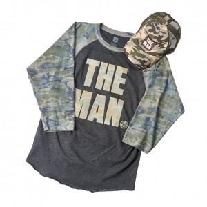 Becky Lynch Camouflage Raglan Baseball Shirt & Hat Set