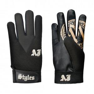 AJ Styles Black/Gold Replica Gloves