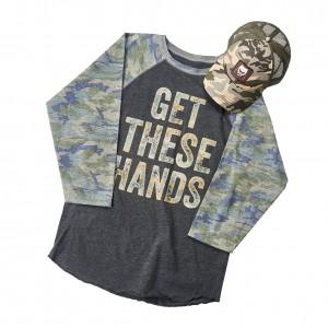 Braun Strowman Camouflage Raglan Baseball Shirt & Hat Set