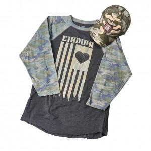 Tommaso Ciampa Camouflage Raglan Baseball Shirt & Hat Set