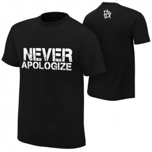 "Dean Ambrose ""Never Apologize"" Youth Authentic T-Shirt"