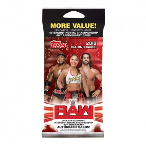 WWE 2019 RAW Topps Cards Fat Pack