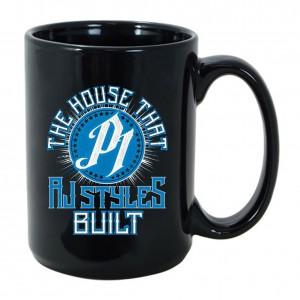 """AJ Styles """"The House that AJ Styles Built"""" 15 oz. Mug"""